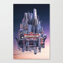 I Drove to Chicago Canvas Print