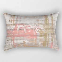 Living Coral, Camel And Gray Texture Rectangular Pillow
