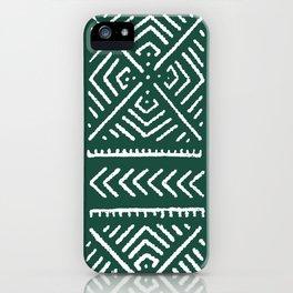 Line Mud Cloth // Brunswick Green iPhone Case