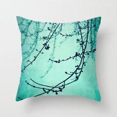 Fog of Green Throw Pillow