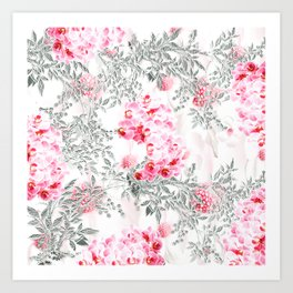 PINK ORCHIDS IN SPRING BLOOM Art Print