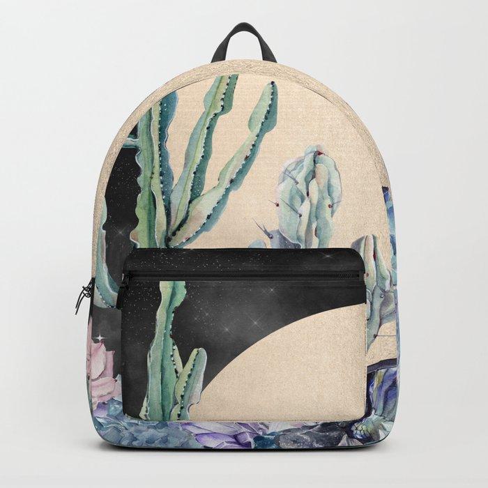 Desert Nights Gold Moon and Gemstones Backpack