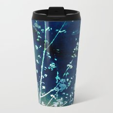 Scattered Spring Cyanatope Metal Travel Mug
