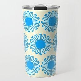 Vintage Flower_Turquoise Travel Mug