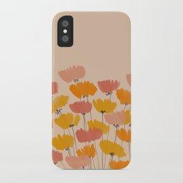 Summertime Flowers On Beige iPhone Case