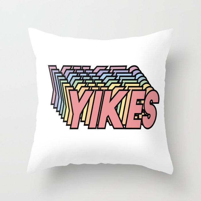 YIKES Throw Pillow