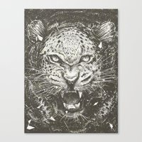 leopard Canvas Prints featuring LEOPARD by Stefania Grippaldi