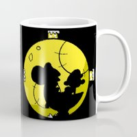 mario bros Mugs featuring Yoshi and Baby Mario ( super mario bros ) by TxzDesign
