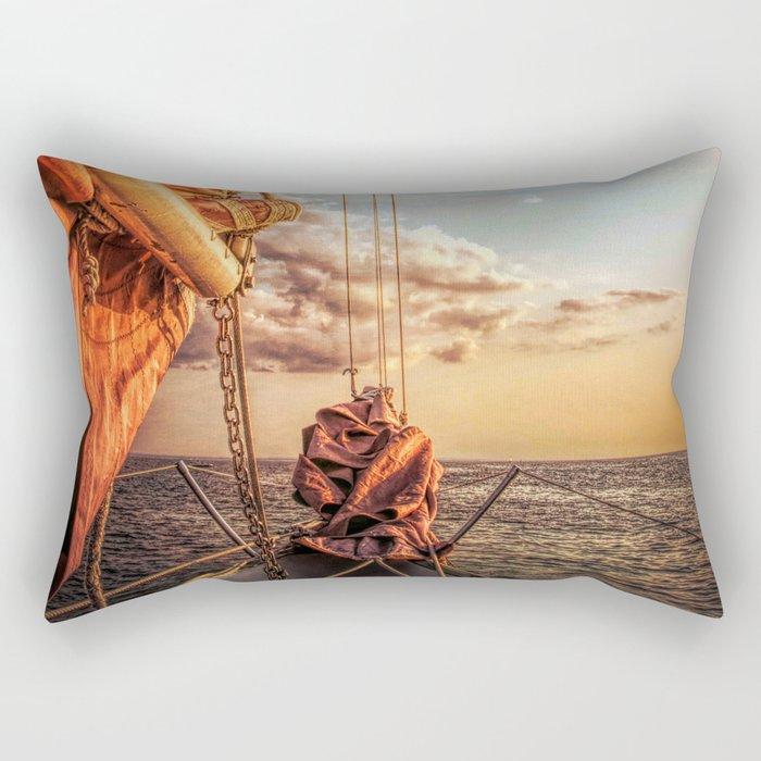 Sail on Spirit of Buffalo Rectangular Pillow