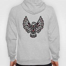 Digital Black and White Eagle Totem Design Hoody