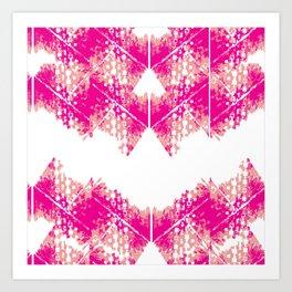 Bright urban texture pattern Art Print
