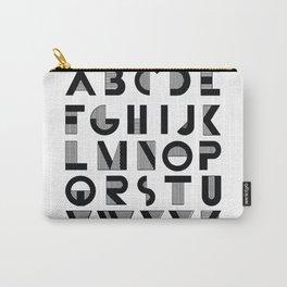 Deco Alphabet Carry-All Pouch