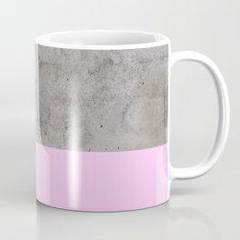 Pink on Concrete Coffee Mug