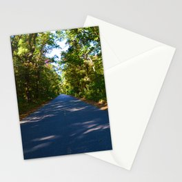 The road to Point Pelee National Park, Southern Ontario, Canada Stationery Cards