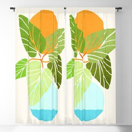 Tropical Symmetry II / Abstract Sunset Landscape Blackout Curtain
