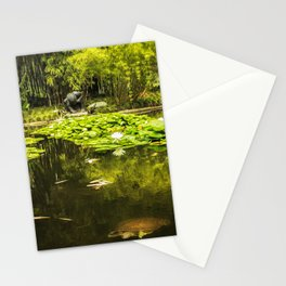 Turtle in a Lily Pond Stationery Cards
