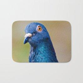 Portrait of a Happy Pigeon Photograph Bath Mat