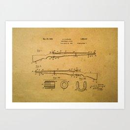 Garand semiautomatic rifle patent Art Print
