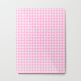 Pink Lace Pink and Cotton Candy Pink Diamonds Metal Print