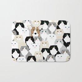 Cats and Dog Bath Mat