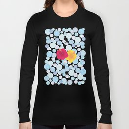 Hibiscus and Rainbow reflected on the bubble_YR Long Sleeve T-shirt