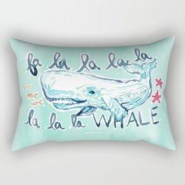 FA LA LA WHALE Coastal Holiday Print Rectangular Pillow
