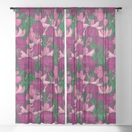 Fuchsia Sheer Curtain