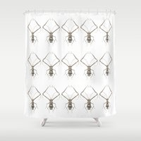 insect Shower Curtains featuring INSECT №4 by Reel Feel