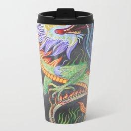 Bright and Vivid Chinese Fire Dragon Travel Mug