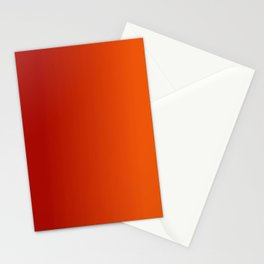 Ombre in Red Orange Stationery Cards