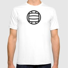 Volleyball - Balls Serie Mens Fitted Tee White MEDIUM