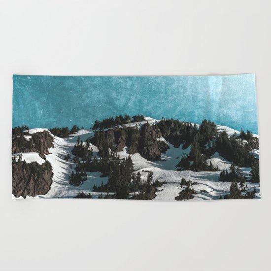 Mountain Morning Dew Beach Towel
