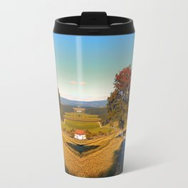Roadside tree in indian summer colors | landscape photography Travel Mug