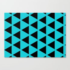 Sleyer Black on Blue Pattern Canvas Print