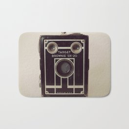 Vintage Brownie Box Camera Bath Mat