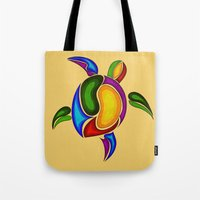 turtle Tote Bags featuring Turtle by Aleksandra Mikolajczak