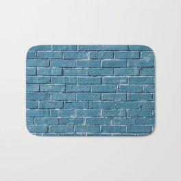 Blue Brick Bath Mat