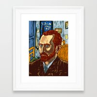 van gogh Framed Art Prints featuring Van Gogh by Nicolae Negura