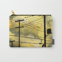 Telephone wires with green clouds Carry-All Pouch