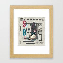 Sadboi island Framed Art Print
