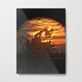 Looking up Fore River at Sunset from Thomas Knight Park in South Portland, Maine (1) Metal Print