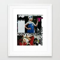 almost famous Framed Art Prints featuring Almost Famous by Kendall Heaphey
