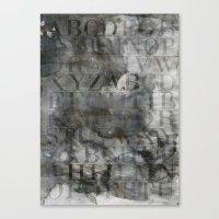 alphabet Canvas Prints featuring Alphabet by cafelab