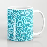 waves Mugs featuring Waves by Arcturus