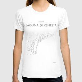 Venezia Lagoon - City Map - Daniele Drigo T-shirt