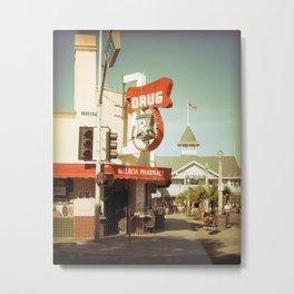 Old Pharmacy and The Balboa Pavilion at Newport Beach Metal Print