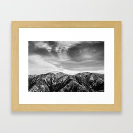 Mount Hutt Sky Framed Art Print