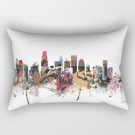 los angeles skyline comic Rectangular Pillow