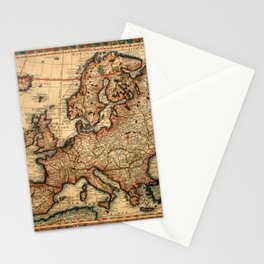Map Of Europe 1700 Stationery Cards