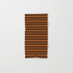Dividers 02 in Orange Brown over Black Hand & Bath Towel